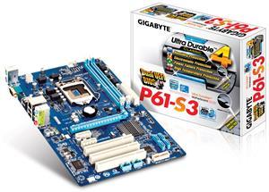 GigaByte P61-S3 LGA 1155 Motherboard